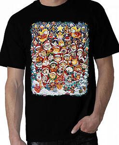 Christmas-Cat-Shirt-Holiday-Party-Shirt-Santa-Claus-Hats-Small-5X