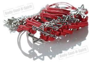 10-lote-de-estrella-de-David-ROJO-Kabbalah-amuleto-de-Buena-suerte-Joyeria