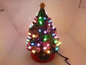 CHRISTOPER RADKO LIGHTED CERAMIC CHRISTMAS TREE ~ NEW