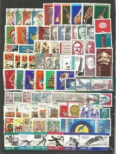DDR 1971  gestempelt kompletter Jahrgang mit allen Einzelmarken