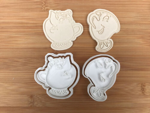 Chip Cookie Cutter Fondant Décoration Gâteau Beauty and the Beast-Potts