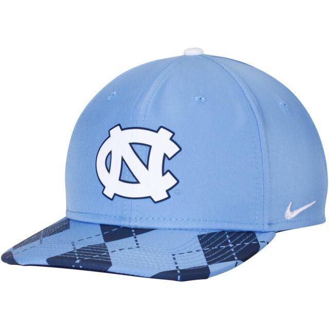3c8ece7a11 Nike North Carolina UNC Tar HEELS Adult Blue Argyle Snapback Dri Fit Hat