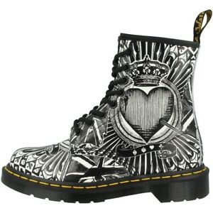 Dr-Doc-Martens-1460-Boots-8-Loch-Stiefel-Unisex-Schuhe-playing-card-23507112