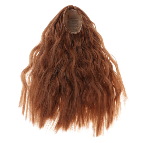 das Lockige Haarteil Perücke der Modepuppe für BJD Puppen Haar DIY