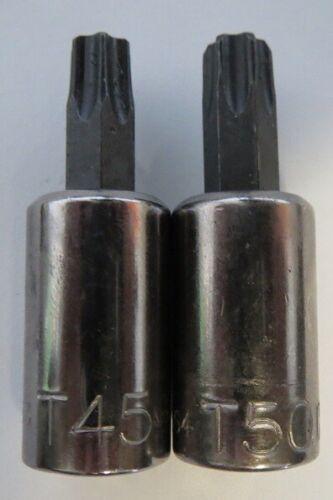 """Kobalt 22363Set 2 Piece 3//8/"""" Drive Torx Bits T45 and T50 USA"""