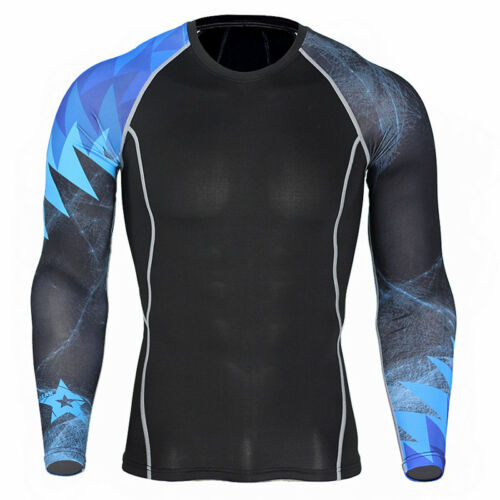 Men Long Sleeve Compression Under Base Layer Thermal Armour Tights Top Shirt