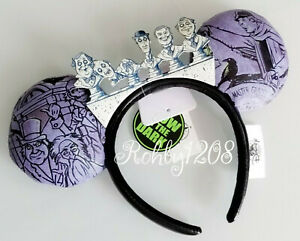 Disney-Disneyland-Haunted-Mansion-50th-Singing-Busts-Minnie-Ear-Headband-GID