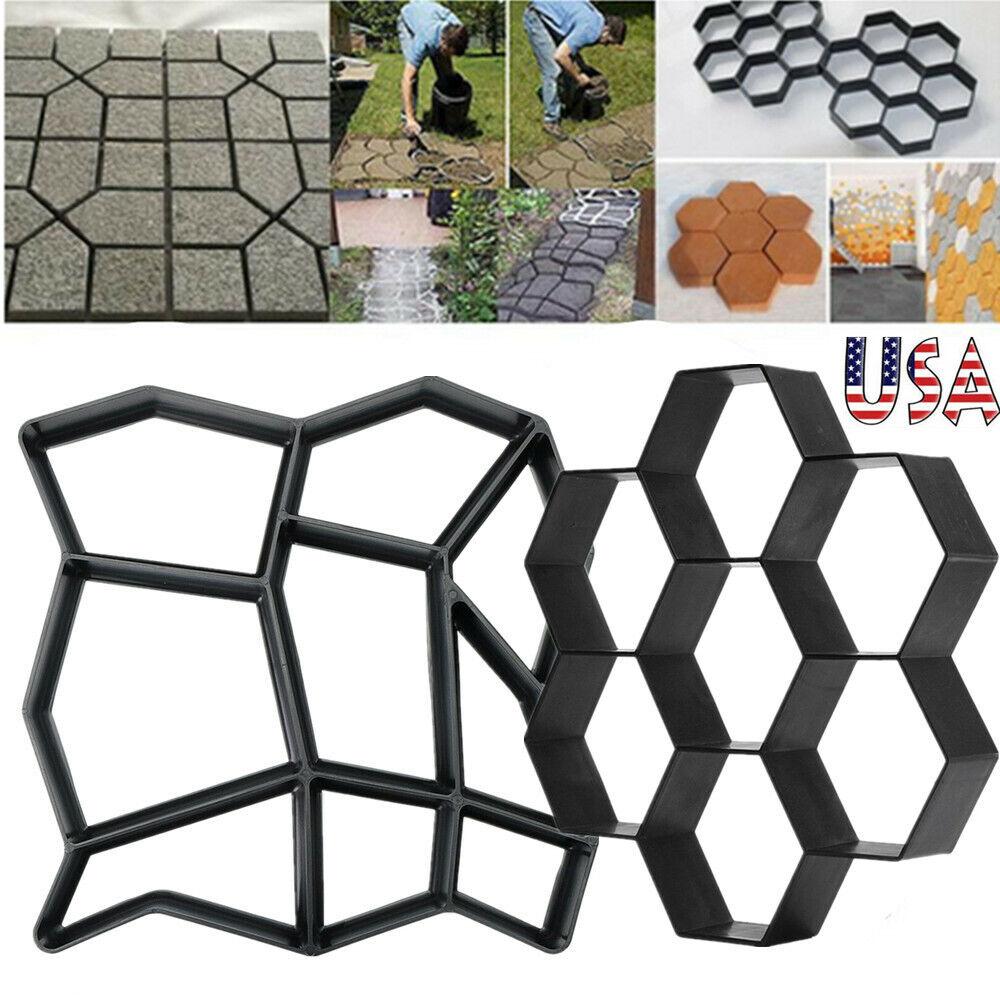 Garden Driveway Paving Patio Concrete Slabs Brick Path Maker Mould 8//9//10 Grid