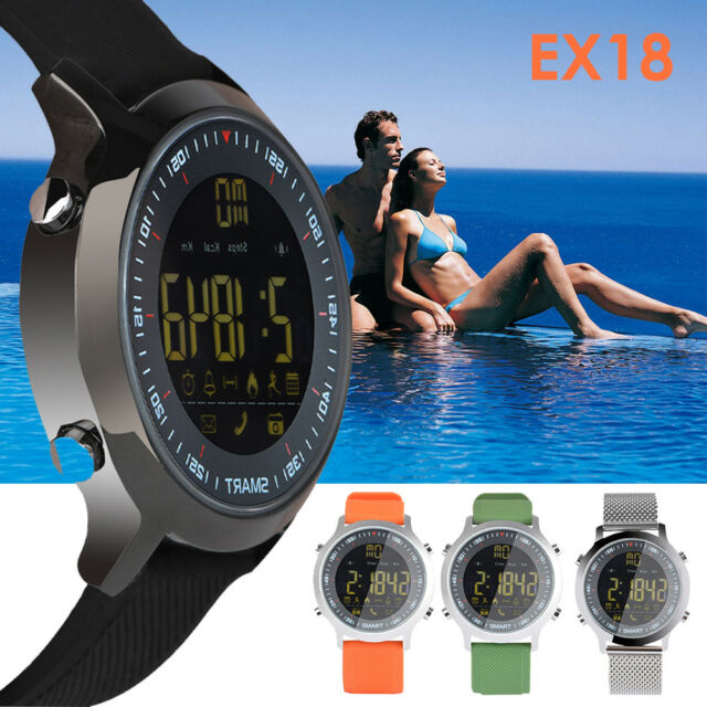 EX18 Smart Watch Men Sport Watch 5ATM Waterproof Bluetooth 4.0 For iOS Android
