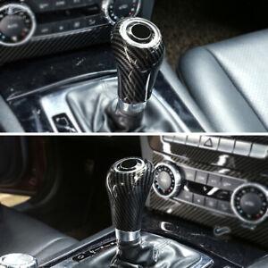 For-Mercedes-Benz-C-Class-W204-Carbon-Fiber-Texture-Gear-Shift-Head-Knob-Cover
