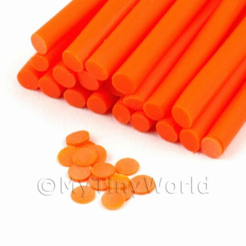 11nc22 Nail Art 3x Handmade Orange Polka Dot Canes