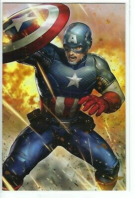 Marvel 2019 Yoon Lee Battle Lines Variant Captain America #11