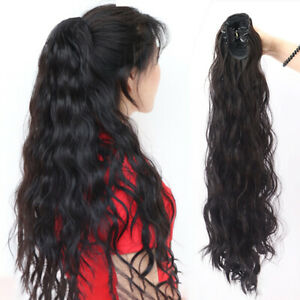 Claw-on-Curly-Wave-Ponytail-Hairpiece-Clip-on-Long-Hair-Pony-Tail-Hair-Extension