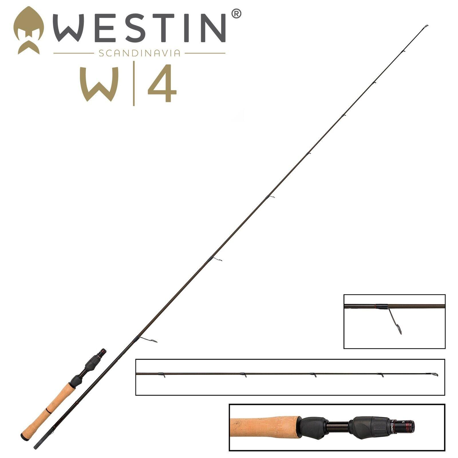 Westin W4 Vertical Jigging QL 185 cm Vertikalrute H 21-40g Vertikalrute cm zum Raubfischangeln 4f3882