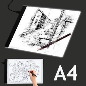 USB-a4-dessin-LED-tracage-boite-a-lumiere-artiste-pochoir-panneau-table-Pad