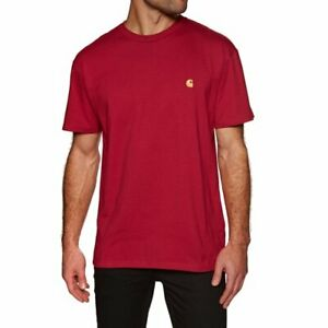 T-shirt-uomo-CARHARTT-WIP-S-S-Chase-I026391-100-cotone-jersey-Col-cardinal