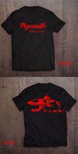Mopar-Plymouth-Cuda-Muscle-Car-Black-Beefy-T-Shirt