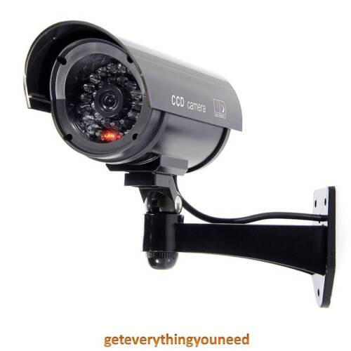 Fake Imitation Security Camera Outdoor Indoor Blinking Flashing Light Batteries