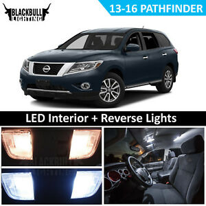 Image is loading WHITE-LED-Interior-Light-Reverse-Replacement-Kit-for-