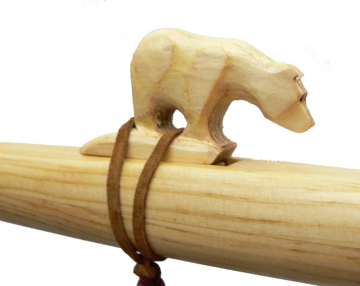 Auténtico Native American Bear Bear Bear Flauta Hecho a Mano por Jonah Thompson en clave de D 9b5783