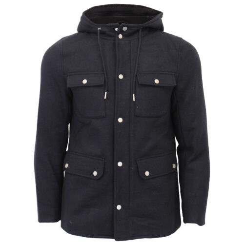 Military Blend Coat Navy Jacket Duffle Laundry Tokyo Wool Mens Giordano Trench Hoodie 5wqU8Y