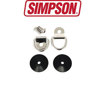 Pair Hans//Hybrid Simpson Quick Release Helmet//Lid Posts M6 FIA8858-2010