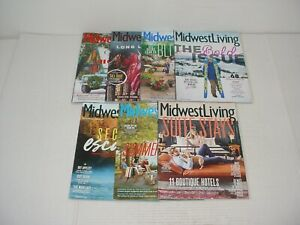 Lot of 7 Midwest Living Magazines 2017 to 2018