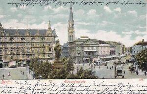 AK Berlin Alexanderplatz 1905 Ankunft NEURUPPIN Ecken gebraucht stampsdealer