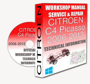 service workshop manual repair manual citroen c4 picasso 2006 2013 rh ebay co uk Citroen C4 Cactus New Citroen C4