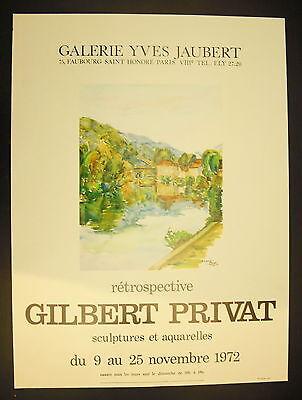 Affiche Exposition Auguste Gilbert Privat Galerie Yves Jaubert 9 Novembre 1972 Refrescante Y Beneficioso Para Los Ojos