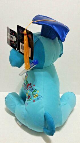 Teddy Graduation Autograph Stuffed Dog Plush BLUE 10.5/'/'  Congrats Grad !
