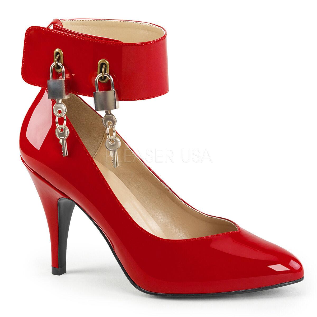 Rebajas Dream - 432 tacón alto alto alto zapatos de salón rojo charol con cierre con las cerraduras tamaño 40  suministramos lo mejor