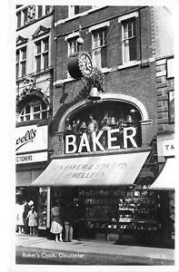 uk40302-bakers-clock-gloucester-real-photo-uk-shop-jeweller