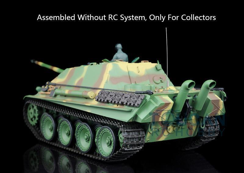 Henglong 1/16 alemán Cheetah Plástico Tanque Estático Modelo 3869 con radio de batería o