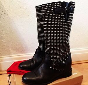 buy online 4cb19 ef8a1 Details about 100% Authentic Christian Louboutin Studded 45mm Boots