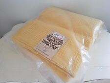 Vintage FARIBO WOOLENS Woven WOOL Blanket 90 x 96 Whipstitch Binding ~ NEW