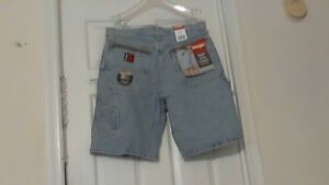 New-Wrangler-Riggs-WorkWear-Carpenter-Jean-Shorts-32-Blue-W-Tags