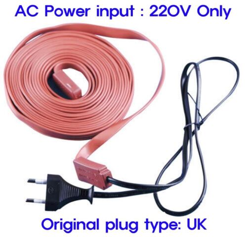 Electric Heating Cable Flexible Water Pipe Freeze Proof Heated Tape-AC 220V only