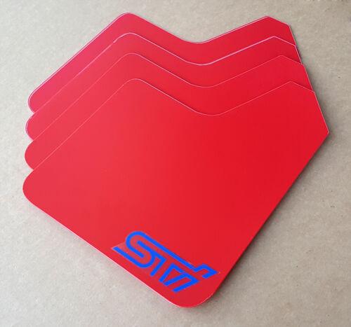 StreetRays Universal STARTER Mud Flaps Set RED with Custom Vinyl Logo A