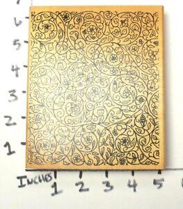 Wooden-RUBBER-STAMP-Large-Block-Background-For-Cards-Vines-Plants-Ivy