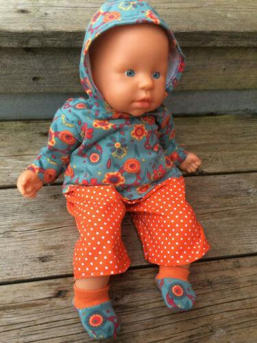 36-38 cm Boy BROTHER pantaloni My First Baby BAMBOLE TG Scarpe F Vestiti hoodie