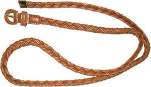 gran calidad mujer marrón trenzado PVC Cinturón con la hebilla de fijación, arte