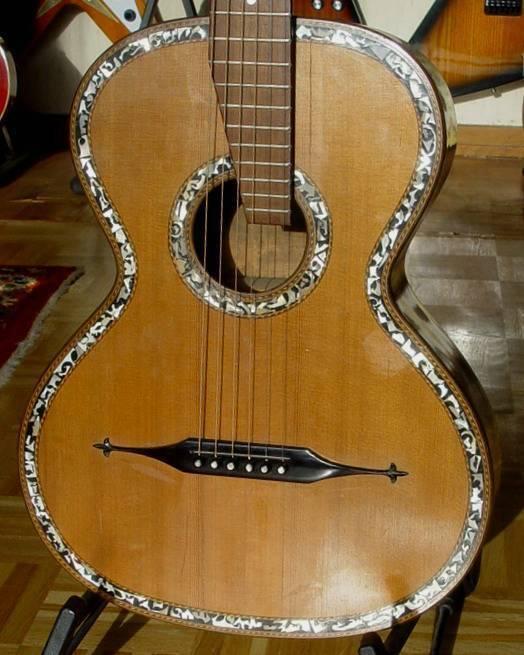Alte Wiener Gitarre um 1920 Vintage traumhaft verziert anschaun