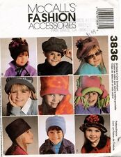 McCall's Children's Hats and Mittens Pattern 3836 XS-XL UNCUT