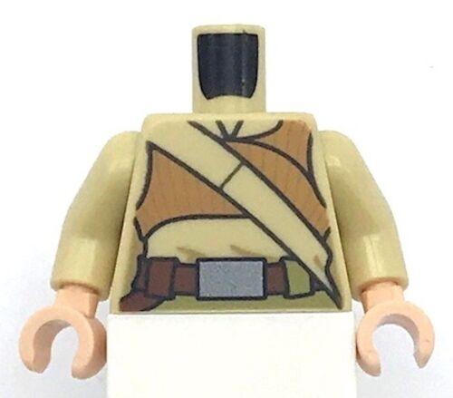 Lego New Tan Torso Female Dark Orange Crop Top and Tan Diagonal Belt Pattern