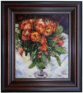Framed-Pierre-Auguste-Renoir-Roses-Repro-Hand-Painted-Oil-Painting-20x24in