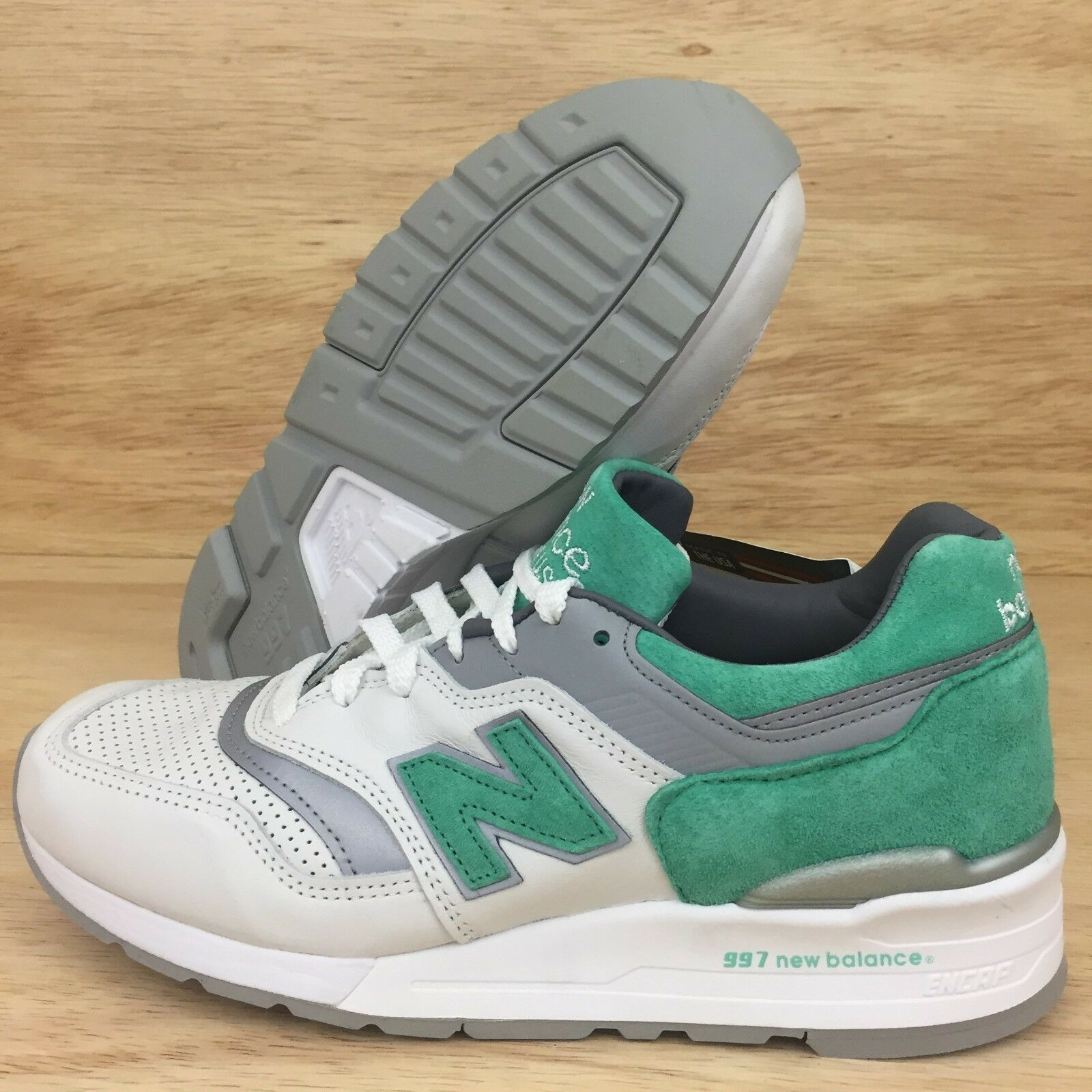 New Balance 997 997 997 scarpe bianca Mint verde Leather Made In USA SZ 9 ( M997CMA ) 865d72