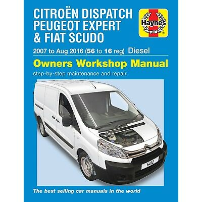 6412 Haynes Citroen Dispatch, Peugeot Expert & Fiat Scudo Diesel Workshop Manual