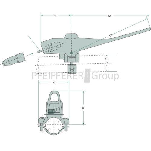 Magura mando palanca 90//electromecánicas totmanngriff V-nº 90.632 BK//ap