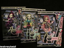 MONSTER HIGH GHOUL'S NIGHT OUT DOLL SET OF 3 SPECTRA LAGOONA BLUE ROCHELLE GOYLE